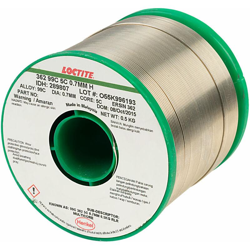 Image of Multicore Loctite 289807 362 99C 5C Lead Free Solder Wire 0.7mm 0.5kg