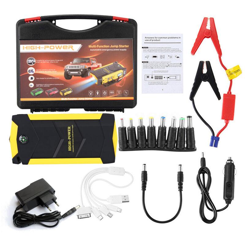 Multifonction 89800mAh 4 USB 12V démarreur de saut de voiture chargeur de batterie rechargeable Booster Pack de secours d'urgence (prise EU)