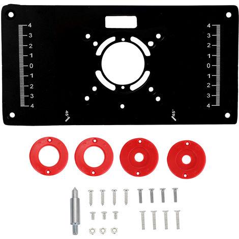 Multifonction Routeur Table Inserer Plaque Travail Du Bois Bancs Modeles Aluminium Bois Routeur Trimmer Machine De Gravure Avec 4 Anneaux Outils