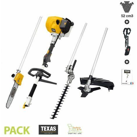 Multifonction thermique multi-outils 5 en 1 52cm3 BCU52M Texas - Jaune
