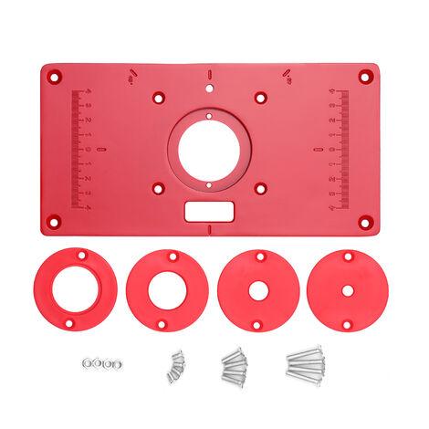 """main image of """"Multifonctionnel Table A Toupie En Alliage D'Aluminium Insert Plaque A Bois Bancs 235X120X8Mm Carpenter Rogneuse Retournez Chip Board"""""""