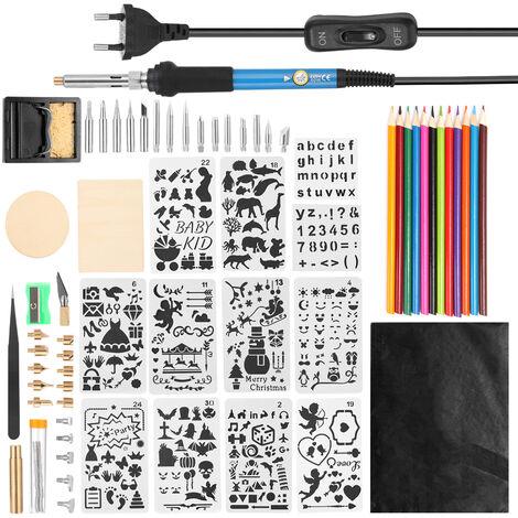 Multifuncional 60W 200-450 ¡æ Temperatura de hierro kit del sistema de herramienta de soldadura ajustable de la soldadura electrica con bolsa de transporte