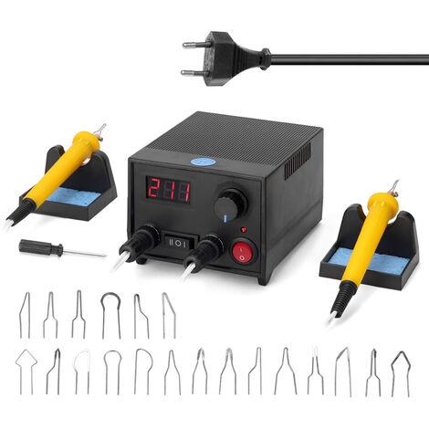 Multifuncional digital Calabaza electrico de madera pirograbado Maquina con 20pcs Jefes de calefaccion Pen