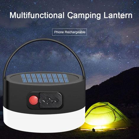 Multifuncional Linterna camping IP55 impermeable linterna recargable con Carpa Funcion de carga de emergencia para acampar