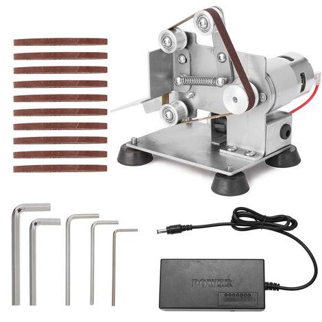 Multifuncional profesional Grinder Mini portatil de cinturon electrico Sander bricolaje Pulido Rectificadora cortador de bordes Sacapuntas con cojines del pie