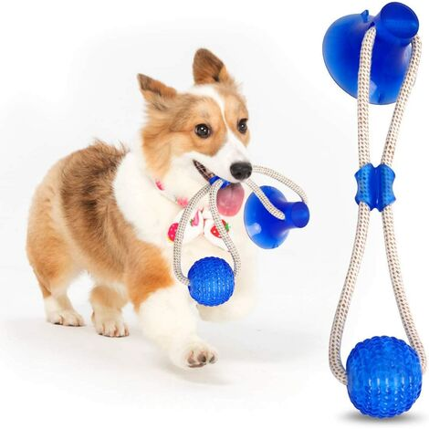 Multifunction Pet Molar Bite Toy, Multifunctional Pet Bite Toy, Toy Pet Dog Toy Interactive Pet Chew Toys (Blue)
