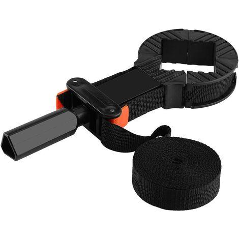 "main image of ""Multifunction Ratchet Headband Clamp, Adjustable Polygonal Strap, Belt Angle Clamp Headband Angle Bracket, 4 Jaws Adjustable Frame Holder Binding Woodworking Tool"""