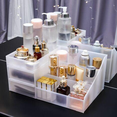 Multifunctional cosmetic storage box Cosmetic box 4 drawers Large capacity Dustproof Large New 2020 Portable cosmetic box Dustproof and waterproof (L)