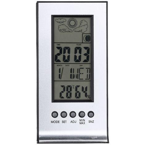 Multifunctional Outdoor/Indoor Hygrometer Thermometer Digital Humidity Temperature Meter Monitor