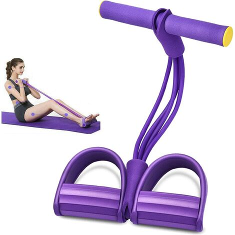 Multifunctional Strength Training Exercise Multifunction Exercise Tube (4 Pack) Purple