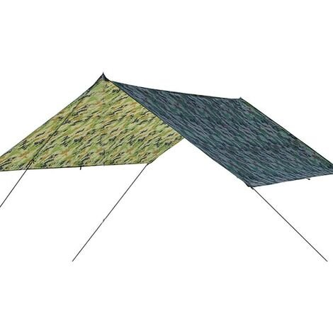 Multifunctional Tent Tarp, Waterproof UV Protection Heavy Duty Shade Sail Canopy for Outdoor Camping Camouflage 300 * 300cm