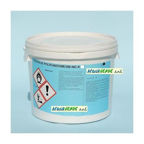 """main image of """"Multifunzione cloro pastiglie pastiglioni 200 gr alghicida flocculante kg 5"""""""