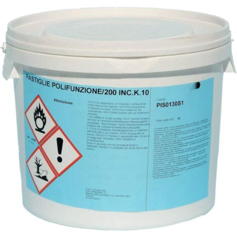 """main image of """"Multifunzione cloro pastiglie pastiglioni 200 gr antialghe flocculante kg 10"""""""