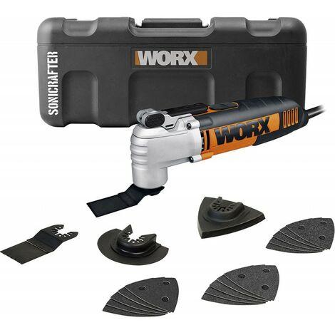 Multiherramienta Oscilante Sonicrafter 250W con 18 accesorios y maletín Worx WX675