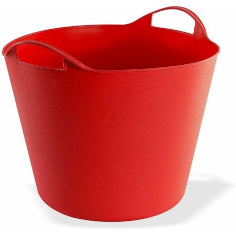 Multikorb Eimer flexibel Futtertrog Transporttrog Plastikkorb 25 Liter rot