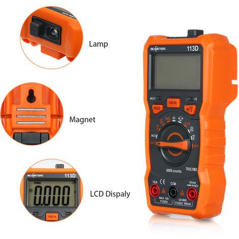Multimeter, Hintergrundbeleuchtung, Widerstandsmesser, messbare Temperatur RM113D