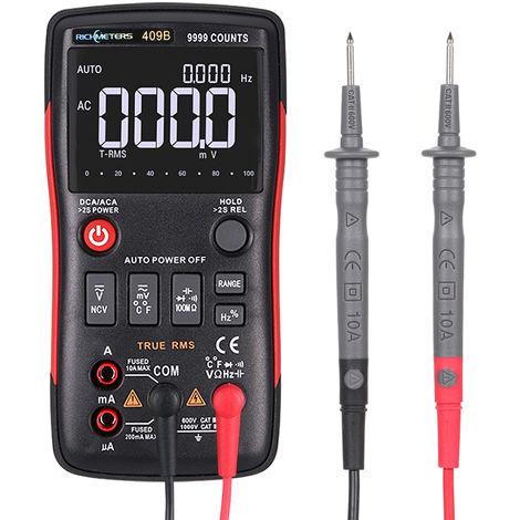 Multimeter, Strom- und Spannungsmesser, automatischer Bereich, 9999Counts