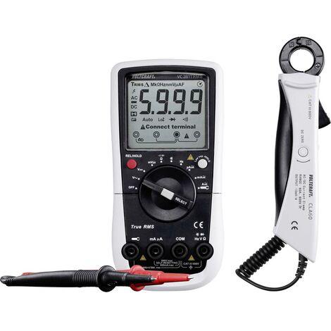 Multimètre , Adaptateur pour sondes de courant VOLTCRAFT VC281 VC-8235915 numérique Etalonnage: dusine (sans certificat) CAT III 600 V Affichage (nombre de