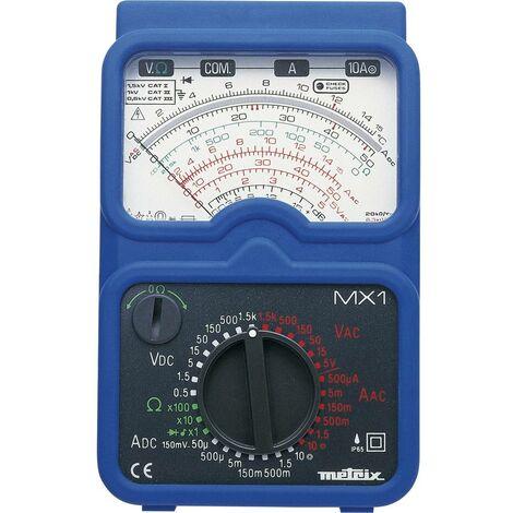 Multimètre analogique Metrix MX1 protégé contre les projections deau (IP65) CAT II 1000 V, CAT III 600 V