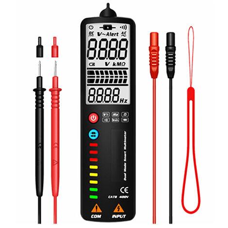 Multimetre de detection intelligent bimode MAXRIENY, detecteur de tension, livre sans batterie ecran LCD ADMS1