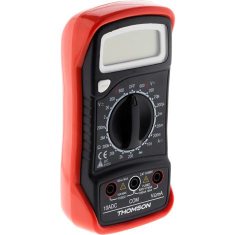 "main image of ""Multimètre digital antichoc - 5 Fonctions CAT III 600V - Thomson"""