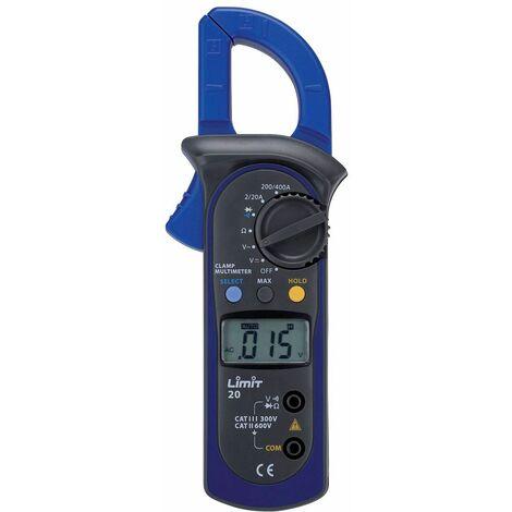 Multimètre et ampèremètre digital CAT II 600V 400A AC/DC Limit LIMIT21