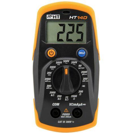 Multimètre HT Instruments HT14D 1010160 numérique CAT II 600 V, CAT III 300 V Affichage (nombre de points): 2000 1 pc(s)
