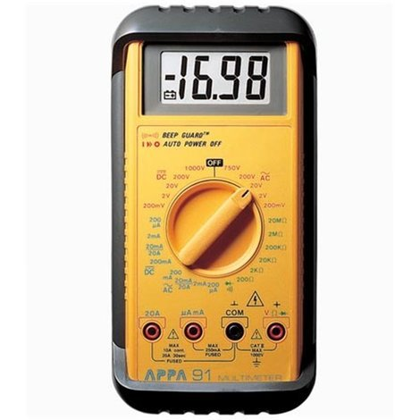 Multimètre Industriel Solide Appa® 91
