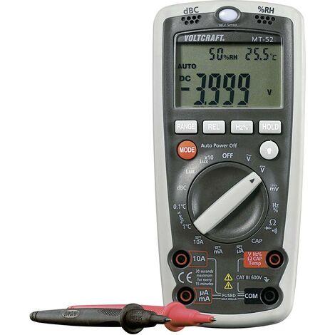 Multimètre numérique 5 en 1 VOLTCRAFT MT-52 fonction de mesure de lenvironnement CAT III 600 V