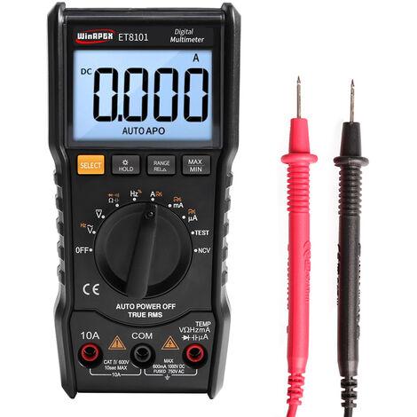 Multimetre Numerique, 6000 Comptes, Avec Retroeclairage Lcd, Winapex
