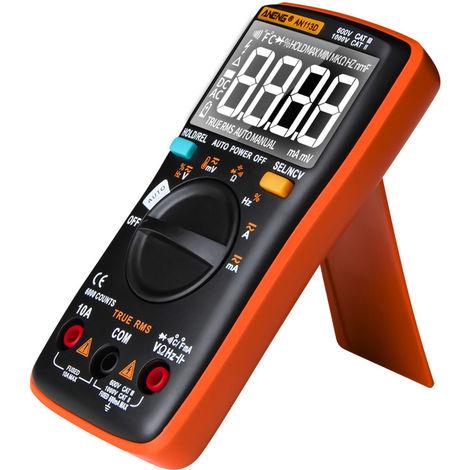 Multimetre Numerique, 6000 Comptes, Testeur De Tension Dc / Ac, Orange