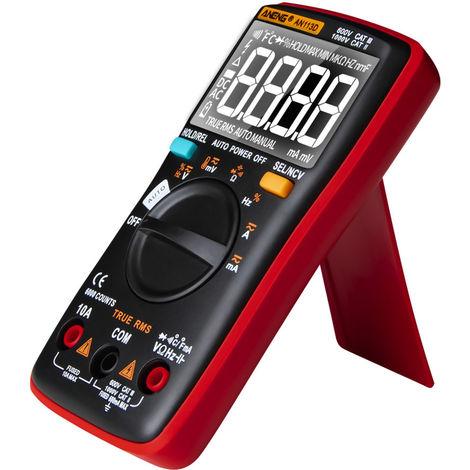 Multimetre Numerique, 6000 Comptes, Testeur De Tension Dc / Ac, Rouge