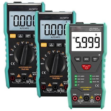 Multimètre numérique avec sélection automatique de gamme - compteur rétroéclairé, testeur de tension, appareil multitest