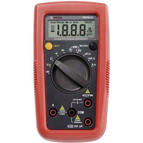 Multimètre numérique Beha Amprobe Hexagon 60 CAT III 600 V Affichage (nombre de points):2000