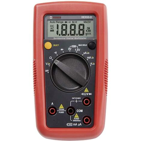 Multimètre numérique Beha Amprobe Hexagon 60 CAT III 600 V Affichage (nombre de points):2000 V765821