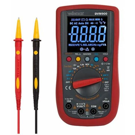 Multimètre numérique - cat ii 700 v / cat iv 600 v - 15 a - auto - true rms - ncv - 6000 points + cordons de mesure tlm72