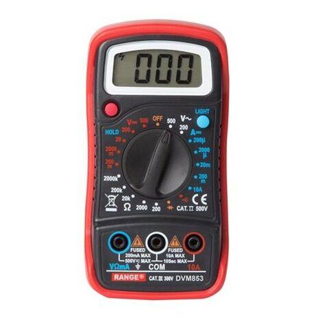 Multimètre Numérique - Cat. Iii 300 V / Cat. Ii 500 V - 1999 Points - Fonction Mémoire / Rétroéclairage / Ronfleur