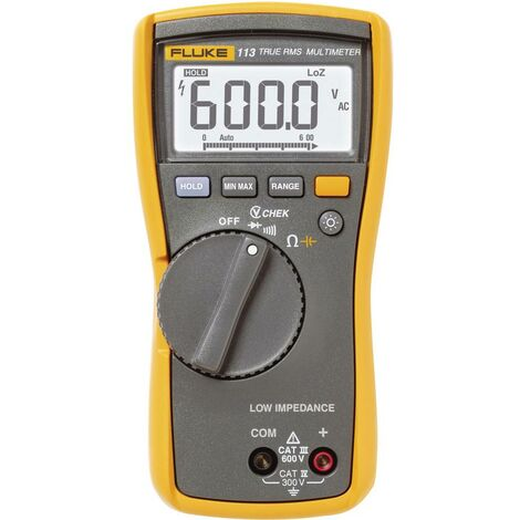 Multimètre numérique Fluke 113 CAT III 600 V Affichage (nombre de points):6000