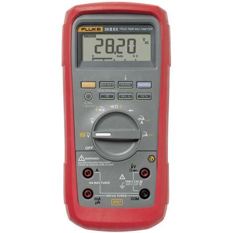 Multimètre numérique Fluke 28 IIEX étanche (IP67), protégé Ex CAT III 1000 V, CAT IV 600 V Affichage (nombre de points):20000 Q51250