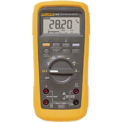 Multimètre numérique Fluke 28II/EUR étanche (IP67) CAT III 1000 V, CAT IV 600 V Affichage (nombre de points):20000 Q51286