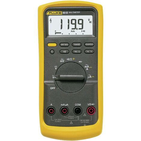 Multimètre numérique Fluke 83V/EUR CAT III 1000 V, CAT IV 600 V Affichage (nombre de points):6000 Q51249