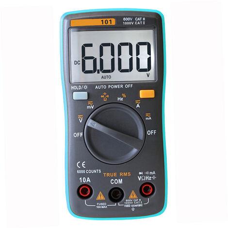 Multimetre Numerique Lcd Multifonctionnel Richmeters Rm101 True Rms