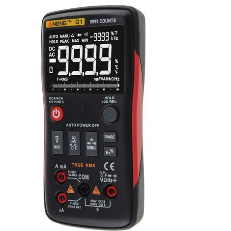 Multimetre Numerique Multifonctionnel, Mesure De Grande Precision, 9999 Mesures, Rouge