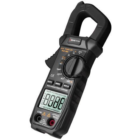 Multimetre Numerique, Pince Amperemetrique, 6000 Comptes, Ecran Lcd, Noir