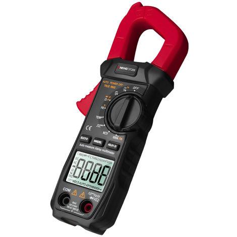 Multimetre Numerique, Pince Amperemetrique, 6000 Comptes, Ecran Lcd, Rouge