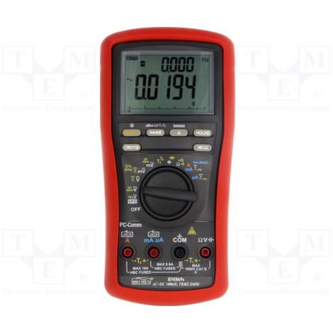 Multimètre numérique portable LCD 50000 points 8 fonctions avec jeu de pinces et sonde de température K Brymen BM869S
