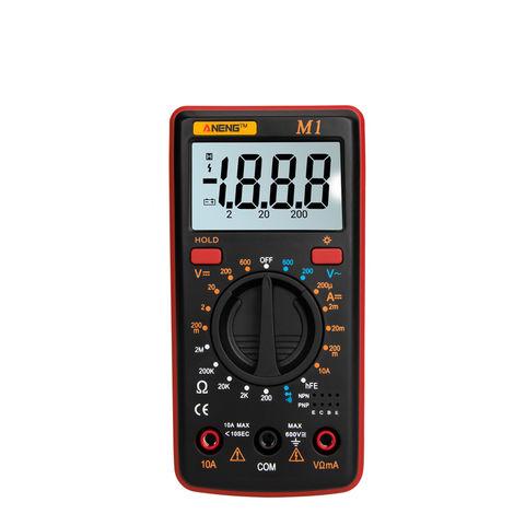 Multimetre Numerique, Retroeclairage Lcd, Protection Contre Les Surcharges, Rouge