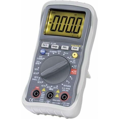 Multimètre numérique VOLTCRAFT AT-200 fonction de mesure pour auto CAT III 600 V Affichage (nombre de points):4000