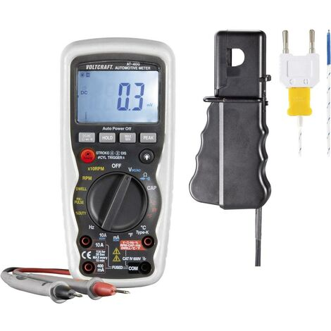 Multimètre numérique VOLTCRAFT AT-400 fonction de mesure pour auto CAT IV 600 V Affichage (nombre de points):4000
