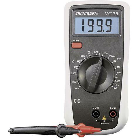 Multimètre numérique VOLTCRAFT VC135 CAT III 600 V Affichage (nombre de points):2000
